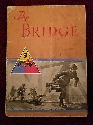 """9th Armored Divisionin WW2 Vintage Booklet """"The Bridge"""" Printed in Germany."""