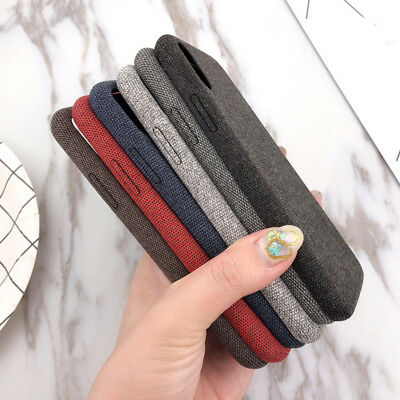 Winter Luxury Flax TPU&Cloth Ultra Soft Phone Case Cover For IPhone 6 7 8p X XS