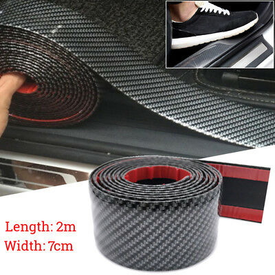 Universal Auto Car Front Lip Spoilers Side Skirt Protector Bumper Strip 2M*70MM