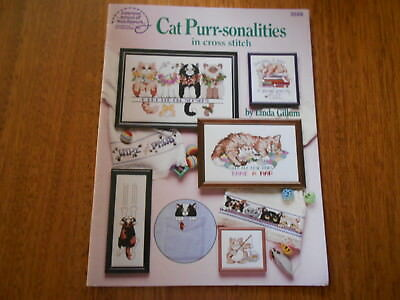 Cat Purr-Sonalities  In Cross Stitch Book 3588 - Good Condition