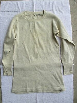 WWII WW2 US Army Oatmeal Winter Thermal Underwear Top Shirt NAMED