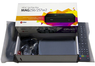Mag 256w2 Infomir Media Streamer IPTV Set-Top Box Built-In 600 Mbps WiFi & HDMI