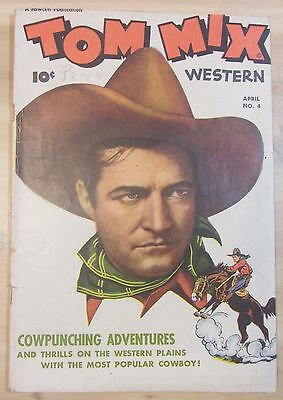 Tom Mix Western #4 (Apr 1948, Fawcett) FN 6.0 condition...Free Shipping!!!