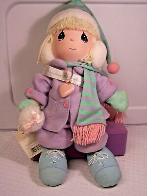 """Precious Moments Limited Edition """"EVIE"""" Christmas Doll 1993 Applause 14"""" No Box"""