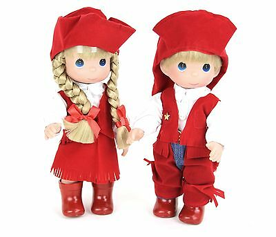 """Precious Moments 12"""" Cowboy Cowgirl Western Vinyl Collector Dolls Special Event"""