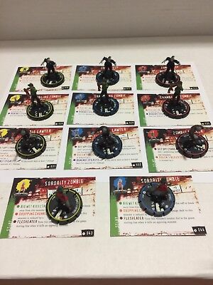 Horrorclix Base Set Zombie LOT Zombies