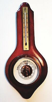 alte WETTERSTATION RC BAROMETER THERMOMETER  Messing/Holz