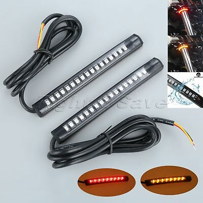 1Pair Motorcycle 39mm-41mm Fork Turn Signal Light Strips for Kawasaki Versys 650