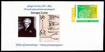 SPAIN GA GEORGES CUVIER PALEONTOLOGY FOSSIL DINOSAUR PRIVATE COVER RARE!! zb30