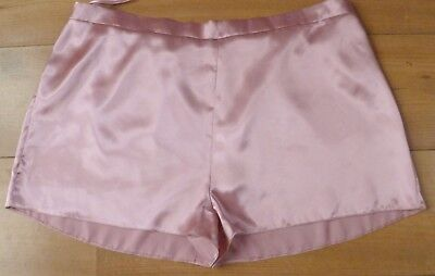 Vintage Style Matalan Beautiful Pink Silky Satin French Cami Knickers Size 18
