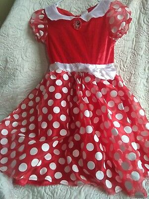 Girl's Minnie Mouse Disney Store Dress Up Halloween Costume Size Medium. 8-10.