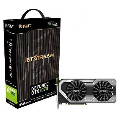 Gaming Grafikkarte GPU Palit GeForce GTX 1070 JetStream 8GB GDDR5 8000 MHz