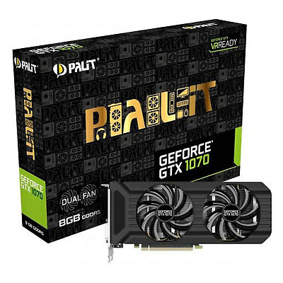 Gaming Grafikkarte GPU Palit GeForce GTX 1070 Dual Fan 8GB GDDR5 NE51070015P2D