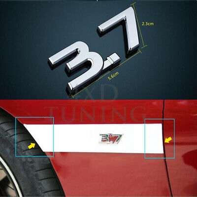 3.7 Car-sticker Emblem for Infiniti Q50 Q50S  Number 3.7 Metal a pair of 2014-Up