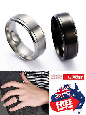 Tungsten Carbide 8mm Brushed Center Men Women Wedding Band Comfort Fit Ring 1pc