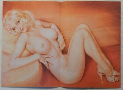 Alberto Vargas Pin Up Art [on cardstock paper] from Playboy January 1989