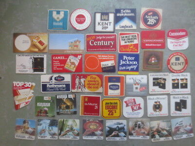 39 different TOBACCO / CIGARETTE Advertising coasters  Issue BEER COASTERS