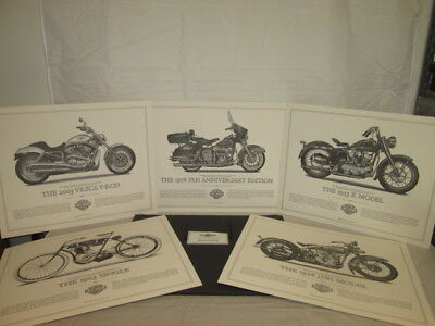 The Harley Davidson Cornerstone Collection Prints Artwork Lot of 5