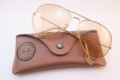 Vintage B&L Ray Ban sunglasses aviator size 62-14 Photochromic etched lens USA