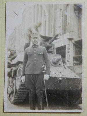 WW2 Japanese The Army tank and officer's picture.Very Good