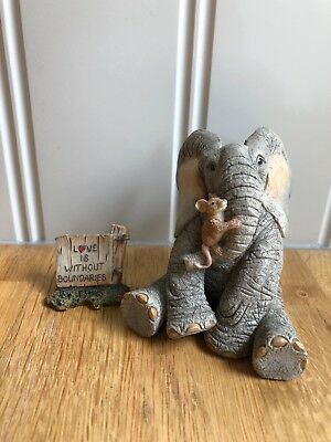 Beautiful Tuskers Elephants Henry... Love is Without Boundries 91018 Rare