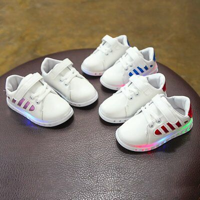 Toddler Baby Girls Boys LED Light Up Shoes Kids Luminous Casual Sports Sneakers