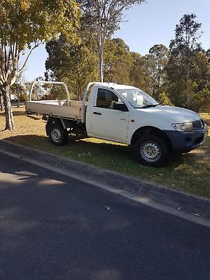Mitsubishi Triton ute 2008 ML GL Cab Chassis Single Cab 2dr Man 5sp 4x2 White