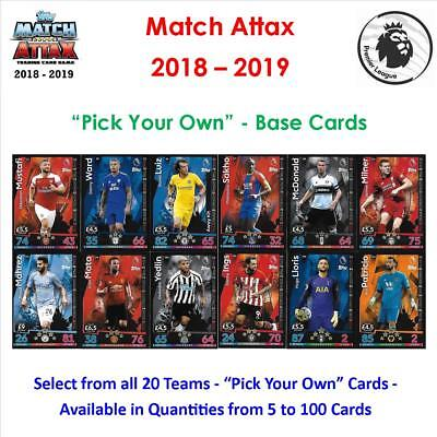 "Match Attax 2018 - 2019 / 18 - 19: ""Pick Your Own"" - Base Cards"