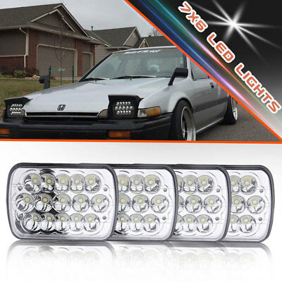 """4x 7x6"""" LED Sealed Beam Replacement H6054 H6014 For Chevy Express 1500 2500 3500"""