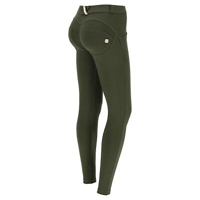 Freddy Wr.up® Shaping Effect - Low Waist Pant, Skinny Fit, Stretch Cotton Green