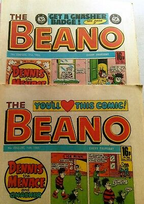 The Beano Comic (x2 from Dec 85)