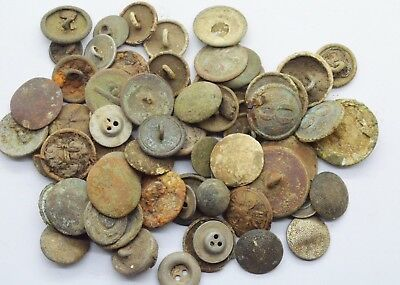 Mixed lot of different countries Uniform buttons 18-20 Century
