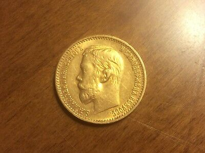 1898 Russian 5 Roubles Gold Coin @@ Must see @@ lot F
