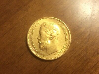 1898 Russian 5 Roubles Gold Coin @@ Must see @@ lot G