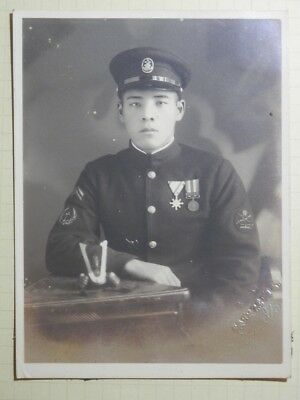 WW2 Japanese Picture of the navy officer.Mr OONISHI MASAMI.Very Good