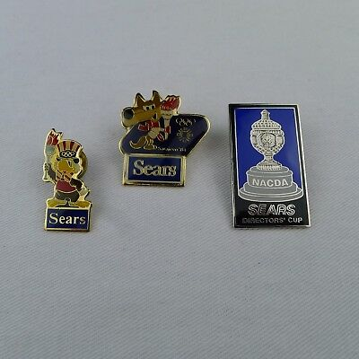 3 Sears Sports Lapel Pins 1984 Sarajevo 1984 Los Angeles Olympics Director's Cup