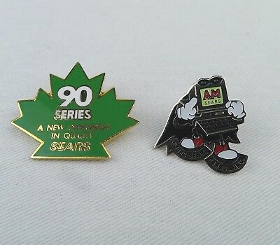2 Sears Canada Employee Pins 90 Series A New Dimension In Quality And AM Sears