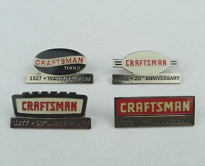 4 Sears Lapel Pins 75th Anniversary Craftsman Tools 1927 - 2002 No Box