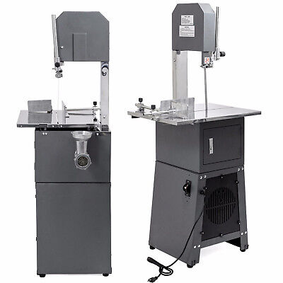 550W Electric Butcher Meat Bone Cutting Band Saw Grinder Sausage Stuffer Machine
