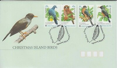 Christmas Island  2002 Christmas Island birds set 4 stamps First day cover