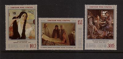 Russia 1988 Cultural Fund  Mint unhinged set 3 stamps