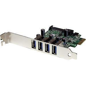 NEW! Startech 4 Port Pci Express Pcie Superspeed Usb 3.0 Controller Card Adapter