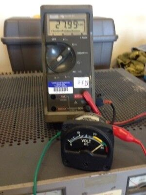 Aircraft Dc Voltmeter Instrument -Bench Tested