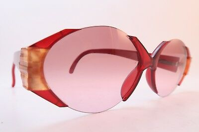 Vintage Late 80s Christian Dior sunglasses red optyl Mod 2397 Col 30 62-12