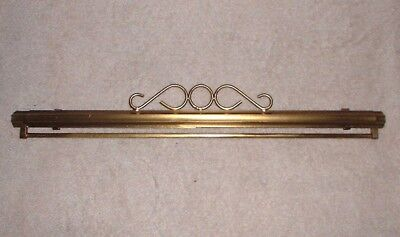 "EP Vintage Bright Brass Bellpull Hardware 13 to 24"" Needlepoint or Embroideries"
