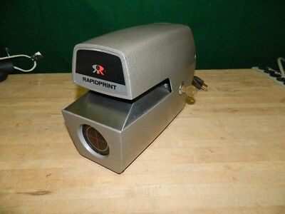 Rapidprint Model Ar-E Time Stamp Recorder Workhorse Clean Tested Works Thru 2021