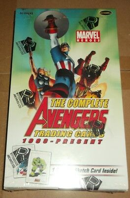 Rittenhouse THE COMPLETE AVENGERS 1963-Present TRADING CARD BOX 40 packs