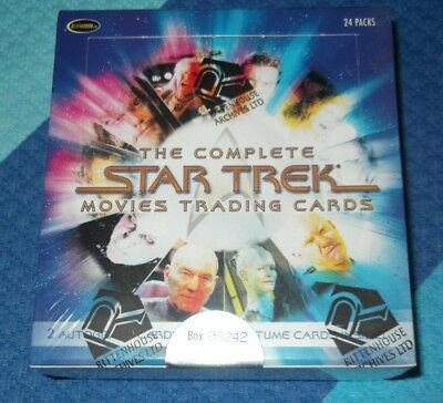 Rittenhouse THE COMPLETE STAR TREK MOVIES TRADING CARD BOX