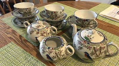 Vintage Porcelain Tea Set Made In Japan 15 Pieces Hand Painted