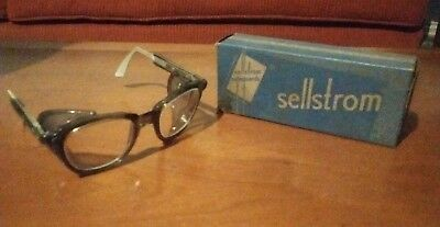 Vintage Sellstrom Clear Safety Glasses with Screen Side Shields Made In USA